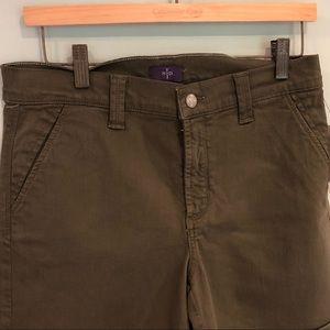 NYDJ Slimming Fit Green Shorts
